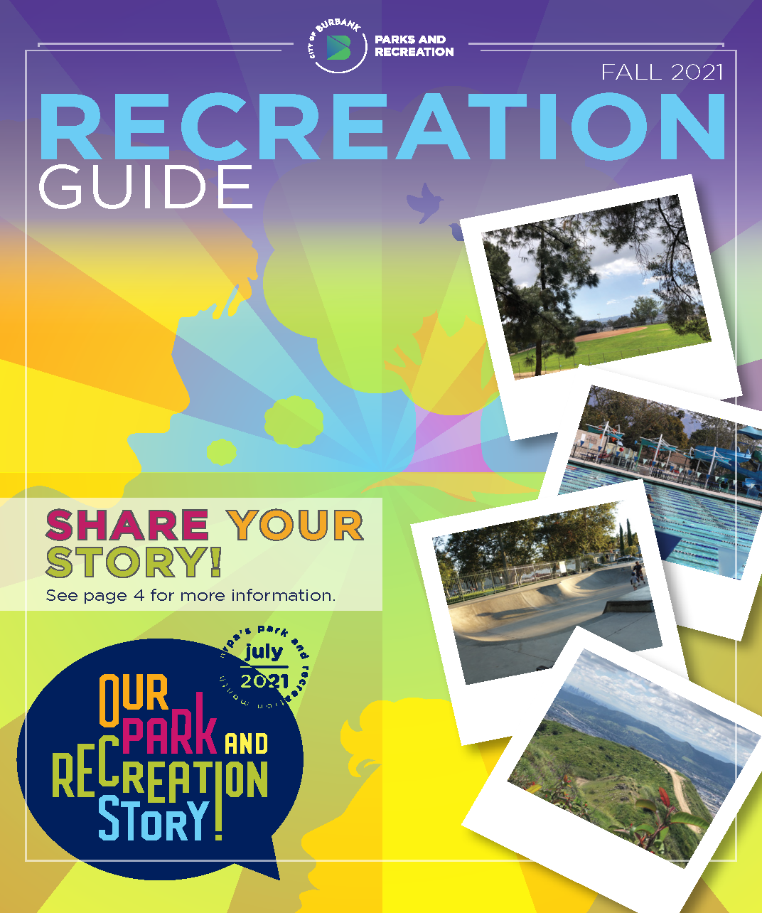 Spring Recreation Guide cover feature a 60 year old woman participating in a virtual bingo game.