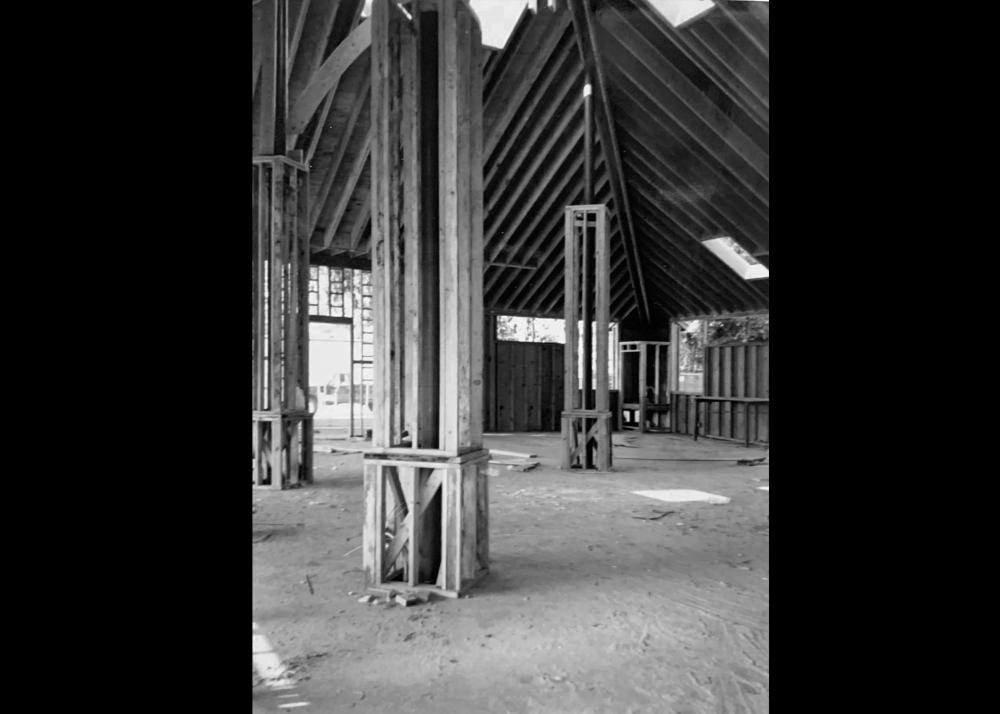 Inside of building during 1980's remodel Image